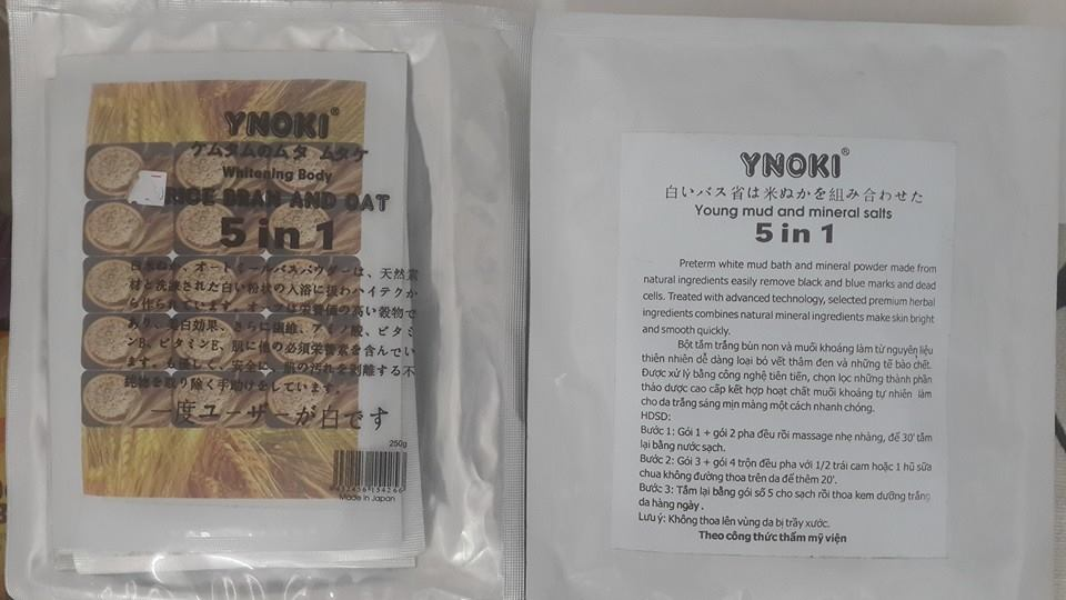 Kem tắm trắng Ynoki 5 in 1
