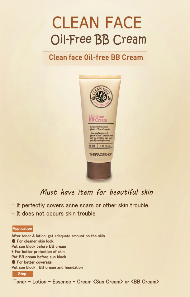 Clean Face Oil-free BB Cream