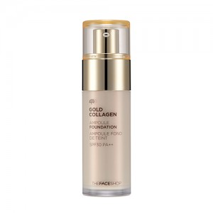 Kem nền THE FACE SHOP Gold Collagen Ampoule Foundation 2