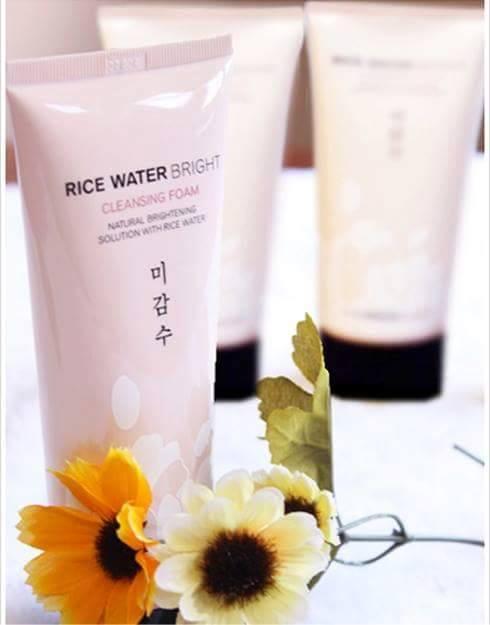 Sua rua mat gao Rice water bright