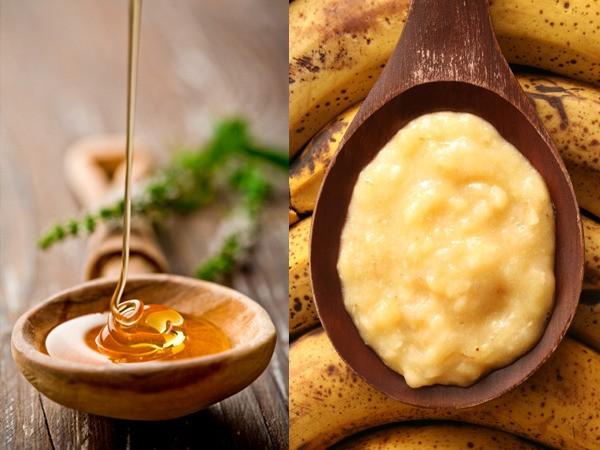cách trị thâm mụn bằng mật ong và chuối