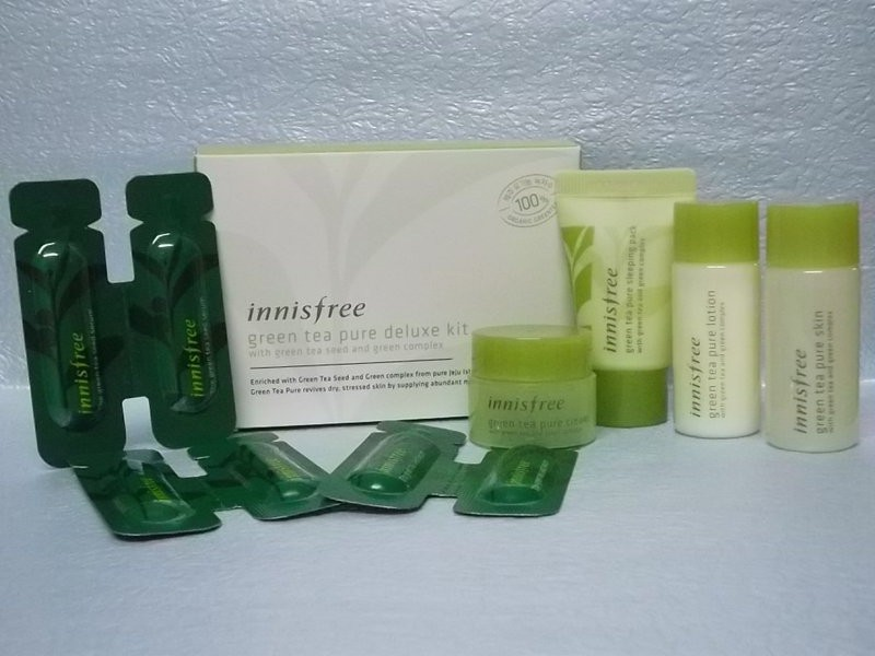 Bộ dưỡng da Innisfree Green Tea Pure Kit 2