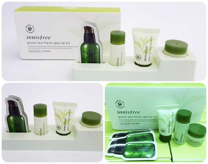 Bộ dưỡng da Innisfree Green Tea Pure Kit