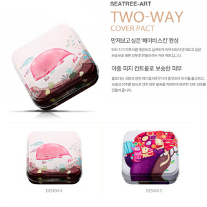 Phấn phủ dạng nén Seatree Art Two Way Cover Pact 2