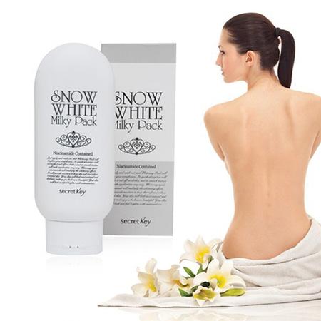 Kem tắm trắng tại nhà Snown White Milky Pack