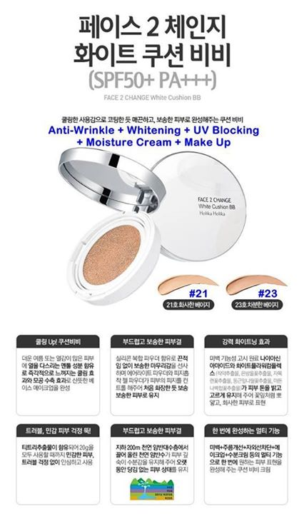 Phấn nước Face 2 Change white cushion BB