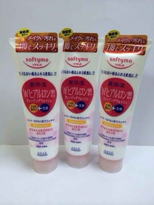 Sữa rửa mặt cho da mụn Kose Softymo hyaluronic acid