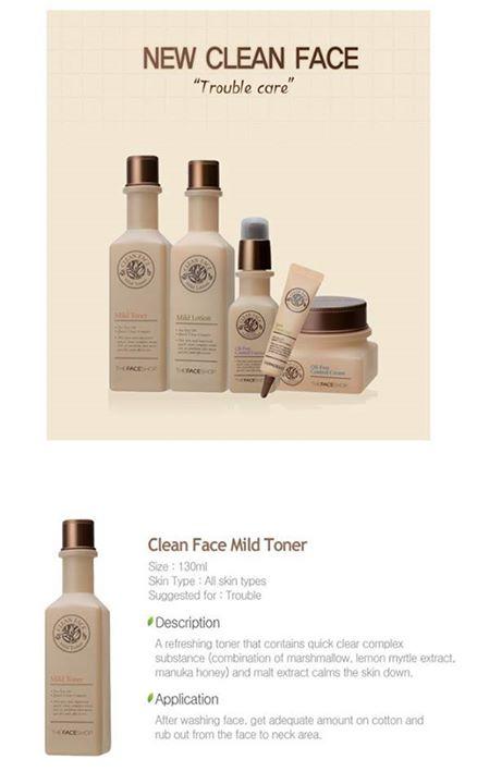 Bộ dưỡng trị mụn Clean Face Mild