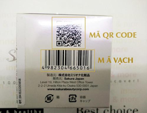 Kiểm tra kem trắng da của Nhật qua mã vạch